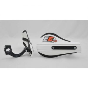 Composite Moto Roost Deflectors White With Mounting Kit 53-220