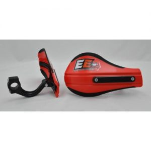 Composite Moto Roost Deflectors Red With Mounting Kit 53-226
