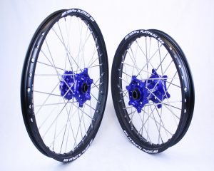 Sherco SER / SEF 4T & 2T Enduro Models – Motocross / Enduro Wheel Set (Blue Hubs – Black Rims)